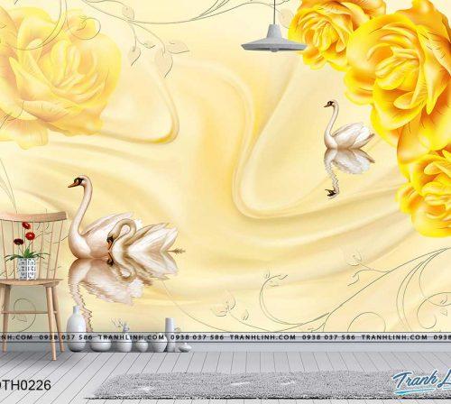 tranh dan tuong hoa dth0226