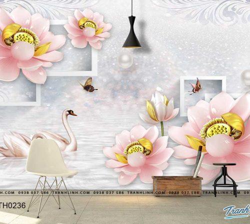 tranh dan tuong hoa dth0236