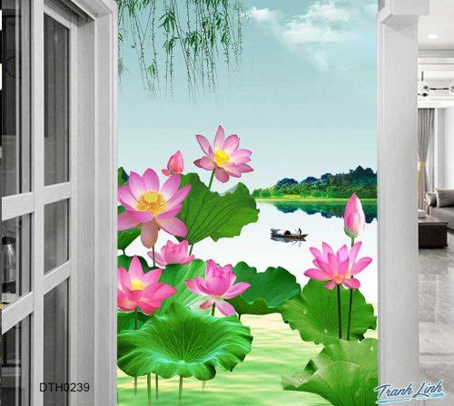 tranh dan tuong hoa dth0239