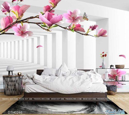 tranh dan tuong hoa dth0246