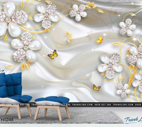 tranh dan tuong hoa dth0248