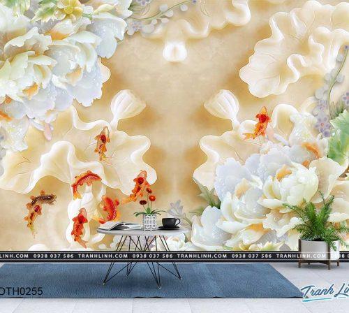 tranh dan tuong hoa dth0255
