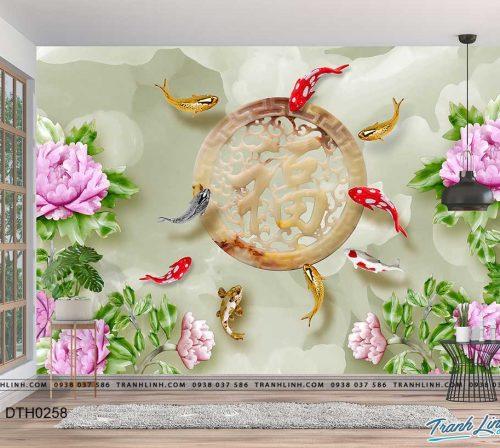 tranh dan tuong hoa dth0258