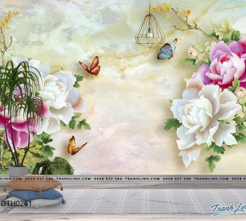 tranh dan tuong hoa dth0261