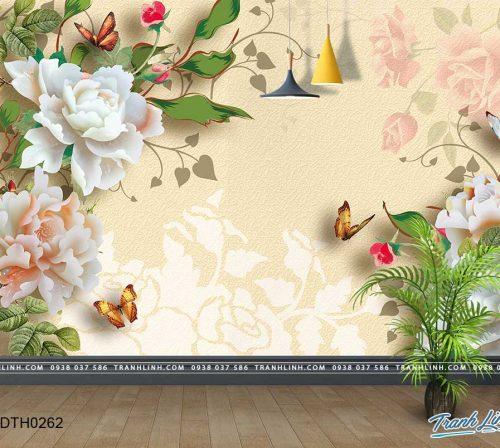 tranh dan tuong hoa dth0262