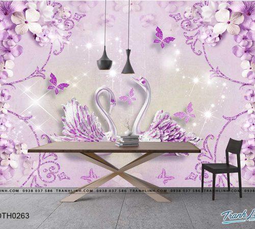 tranh dan tuong hoa dth0263