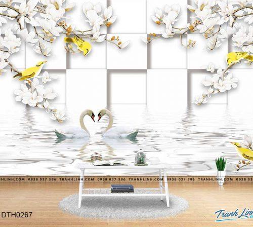 tranh dan tuong hoa dth0267