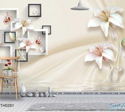 tranh dan tuong hoa dth0281
