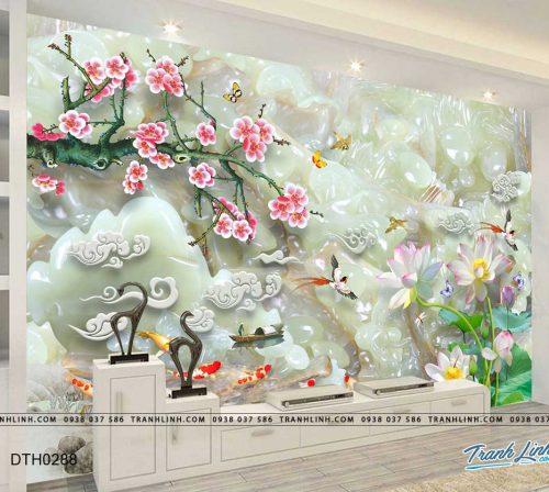 tranh dan tuong hoa dth0288