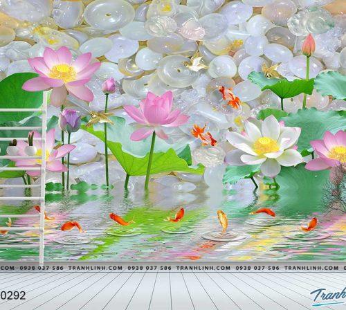 tranh dan tuong hoa dth0292