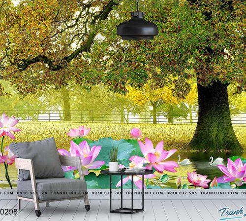 tranh dan tuong hoa dth0298