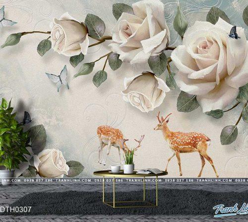 tranh dan tuong hoa dth0307