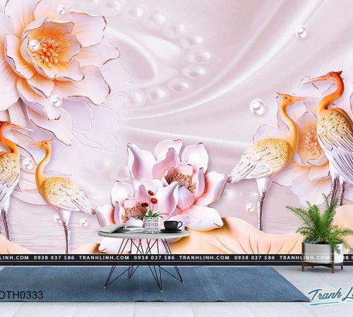 tranh dan tuong hoa dth0333