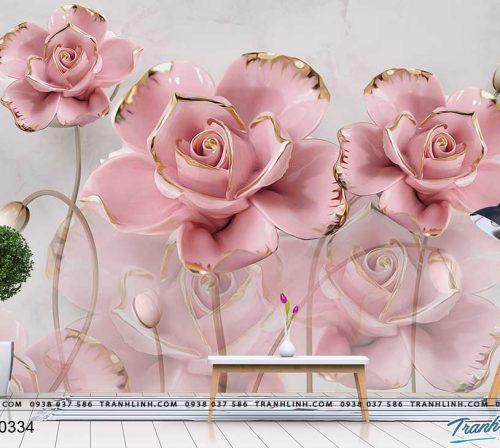 tranh dan tuong hoa dth0334