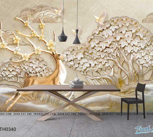 tranh dan tuong hoa dth0340