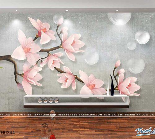tranh dan tuong hoa dth0344