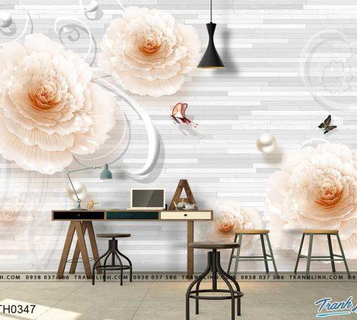 tranh dan tuong hoa dth0347