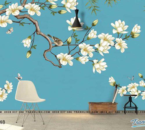 tranh dan tuong hoa dth0348