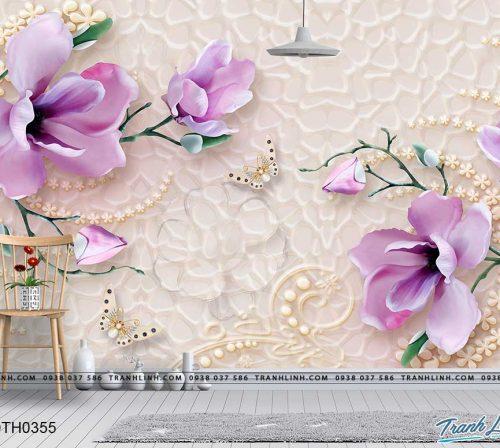 tranh dan tuong hoa dth0355