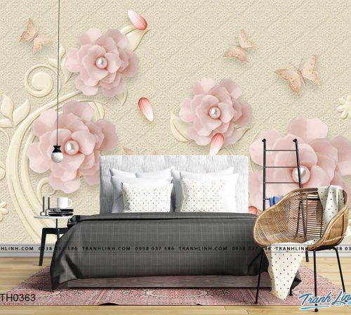tranh dan tuong hoa dth0363
