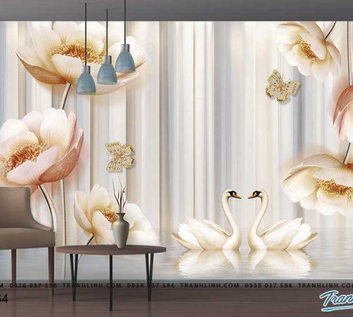tranh dan tuong hoa dth0364