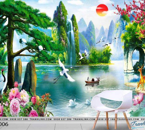 tranh dan tuong phong canh phong thuy pt0006