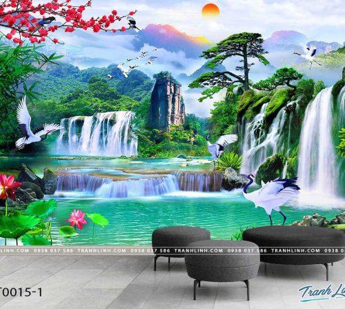 tranh dan tuong phong canh phong thuy pt0015