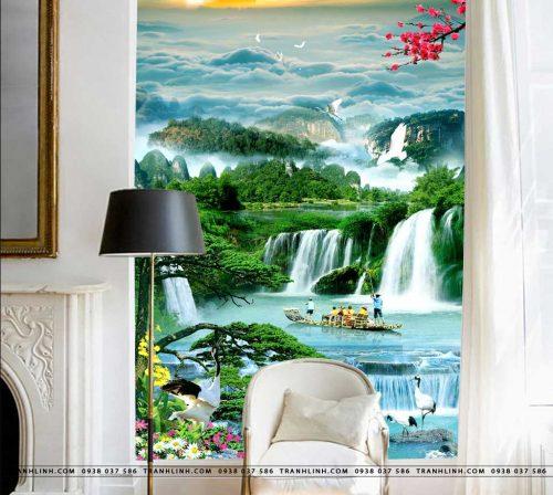 tranh dan tuong phong canh phong thuy pt0106