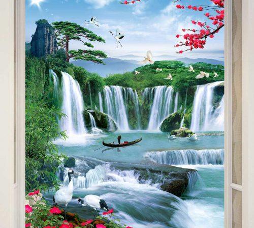 tranh dan tuong phong canh phong thuy pt0108
