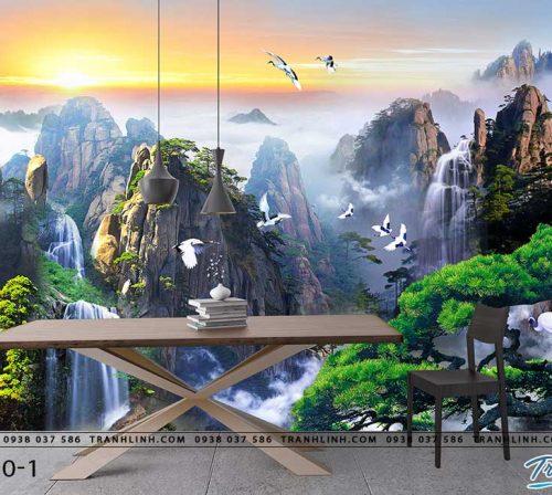 tranh dan tuong phong canh phong thuy pt0110
