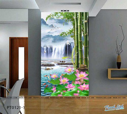 tranh dan tuong phong canh phong thuy pt0121