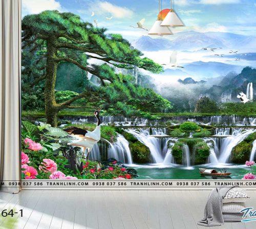 tranh dan tuong phong canh phong thuy pt0164