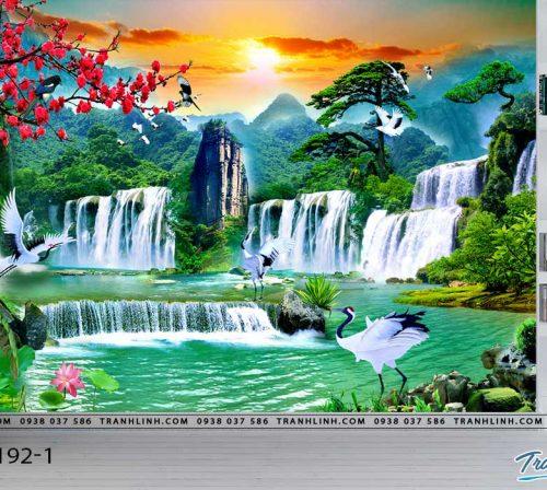 tranh dan tuong phong canh phong thuy pt0192