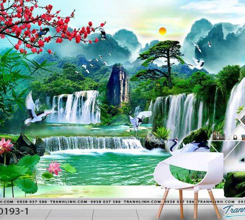 tranh dan tuong phong canh phong thuy pt0193