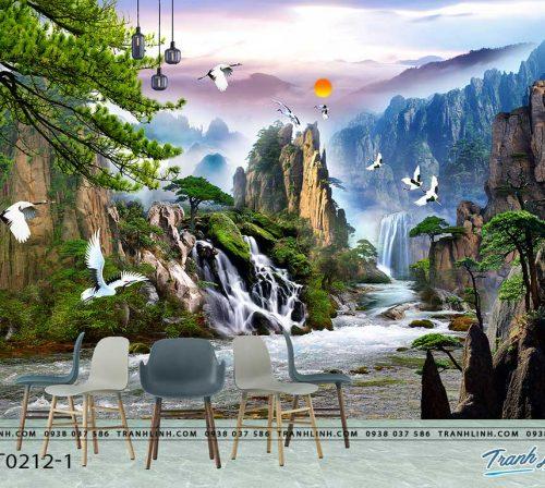 tranh dan tuong phong canh phong thuy pt0212