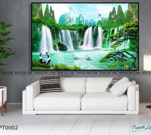 tranh in canvas phong canh phong thuy pt0002