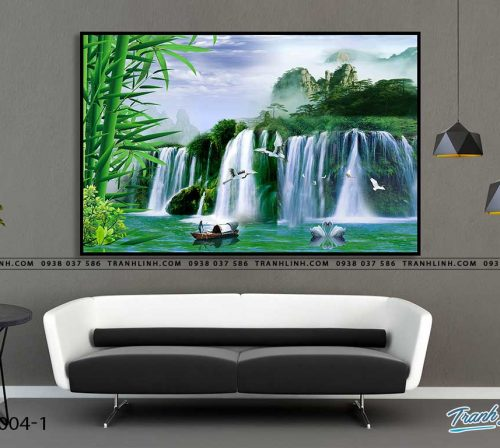 tranh in canvas phong canh phong thuy pt0004