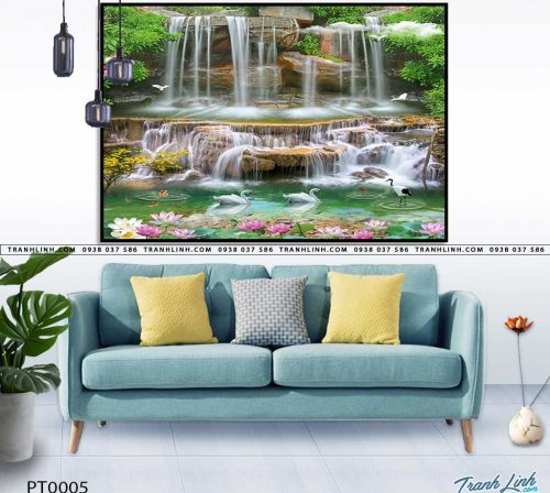 tranh in canvas phong canh phong thuy pt0005