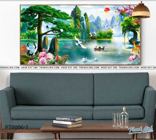 tranh in canvas phong canh phong thuy pt0006