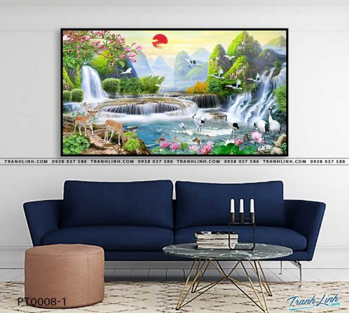 tranh in canvas phong canh phong thuy pt0008