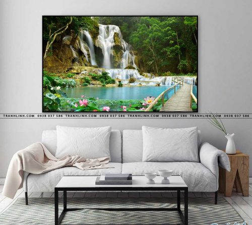 tranh in canvas phong canh phong thuy pt0009