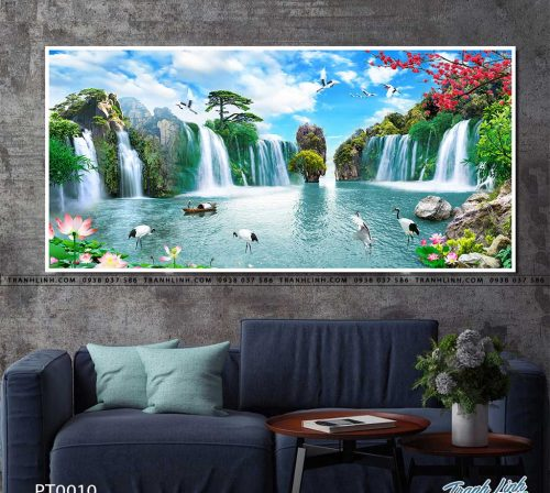 tranh in canvas phong canh phong thuy pt0010