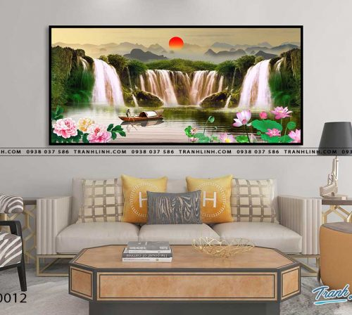 tranh in canvas phong canh phong thuy pt0012