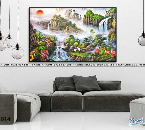 tranh in canvas phong canh phong thuy pt0014
