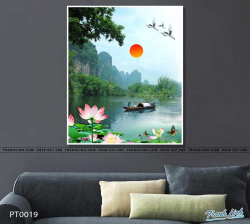 tranh in canvas phong canh phong thuy pt0019