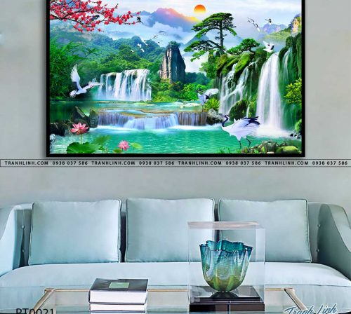 tranh in canvas phong canh phong thuy pt0021