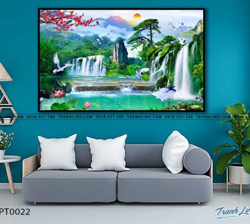 tranh in canvas phong canh phong thuy pt0022
