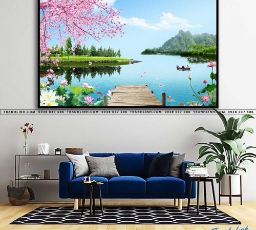 tranh in canvas phong canh phong thuy pt0026