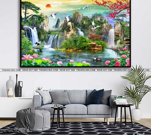 tranh in canvas phong canh phong thuy pt0032