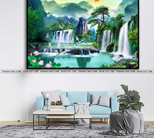 tranh in canvas phong canh phong thuy pt0033
